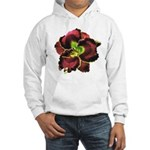 Dark Purple Daylily Hooded Sweatshirt