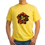 Dark Purple Daylily Yellow T-Shirt