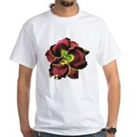 Dark Purple Daylily White T-Shirt