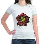 Dark Purple Daylily Jr. Ringer T-Shirt