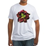 Dark Purple Daylily Fitted T-Shirt