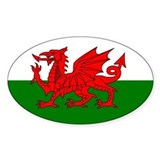 Wales Oval Bumper Stickers