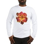 Coral Red Daylily Long Sleeve T-Shirt