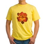 Coral Red Daylily Yellow T-Shirt