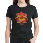 Coral Red Daylily Women's Dark T-Shirt