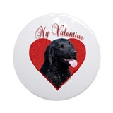 Curly Coat Valentine Ornament (Round)