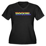 Raquel Gay Pride (#003) Women's Plus Size V-Neck D