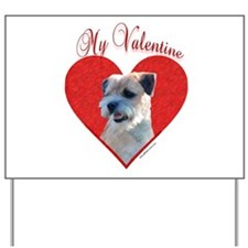 Border Terrier Valentine Yard Sign