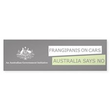 Frangipanis On Cars Bumper Bumper Sticker