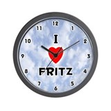 I Love Fritz (Black) Valentine Wall Clock