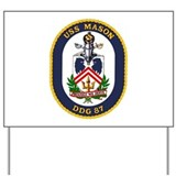USS Mason DDG 87 Yard Sign