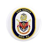 USS Shoup DDG 86 3.5&quot; Button