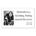 Oscar Wilde 19 Rectangle Sticker