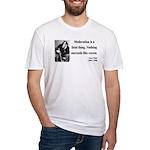 Oscar Wilde 19 Fitted T-Shirt