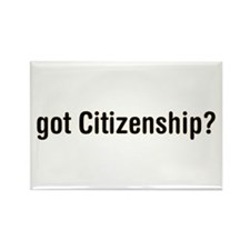 got Citizenship Rectangle Magnet (10 pack)