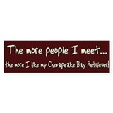 The More People Chessie Bumper Car Sticker