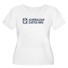 AUSTRALIAN CATTLE DOG Womens Plus-Size Scoop Neck