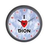 I Love Dion (Red/Blk) Valentine Wall Clock