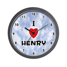 I Love Henry (Black) Valentine Wall Clock
