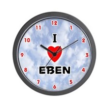 I Love Eben (Red/Blk) Valentine Wall Clock
