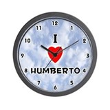 I Love Humberto (Black) Valentine Wall Clock