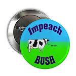 Impeach Bush Moo Cow Button