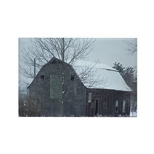 Old Barn in Winter Rectangle Magnet (10 pack)