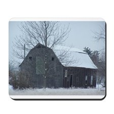 Old Barn in Winter Mousepad