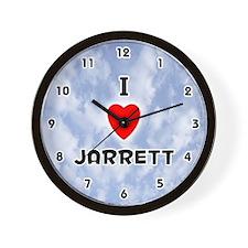 I Love Jarrett (Black) Valentine Wall Clock