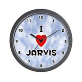 I Love Jarvis (Black) Valentine Wall Clock