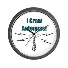 I Grow Antennas Wall Clock
