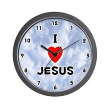I Love Jesus (Black) Valentine Wall Clock