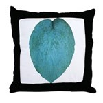 Big Blue Hosta Throw Pillow
