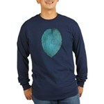 Big Blue Hosta Long Sleeve Dark T-Shirt