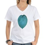Big Blue Hosta Women's V-Neck T-Shirt