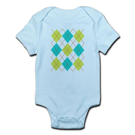 Argyle T-shirt Infant Bodysuit