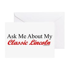 """Ask About My Lincoln"" Greeting Card"