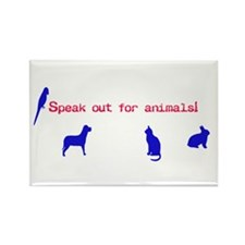 Unique Dog advocate Rectangle Magnet