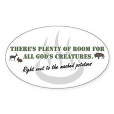 GOD'S BUFFET Oval Sticker