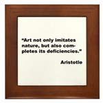 Aristotle Quote on Art & Nature Framed Tile