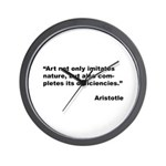 Aristotle Quote on Art & Nature Wall Clock