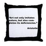 Aristotle Quote on Art & Nature Throw Pillow