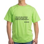 Aristotle Quote on Art & Nature (Front) Green T-Sh