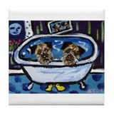 BORDER TERRIER bath Tile Coaster
