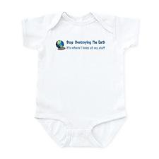 Stop Destroying the Earth: Stuff Infant Bodysuit