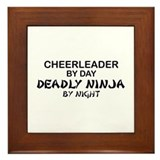 Cheerleader Deadly Ninja Framed Tile