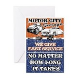 MOTOR CITY GARAGE 2 Greeting Card