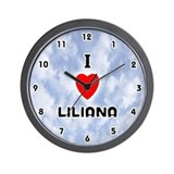 I Love Liliana (Black) Valentine Wall Clock