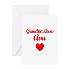 Grandpa Loves Ava Greeting Card