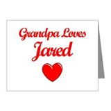 Grandpa Loves Jared Note Cards (Pk of 10)